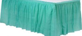 Robin's Egg Blue  Plastic Table Skirt