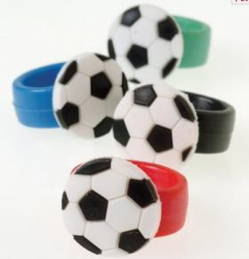 Soccer Rubber Rings 1 doz