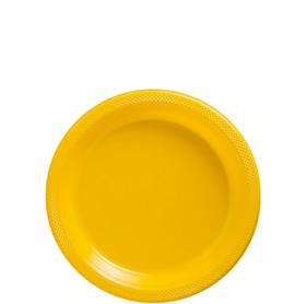 Yellow Sunshine Plastic Dessert  Plates 20ct