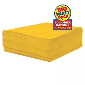 Sunshine Yellow Dinner Napkins 50ct