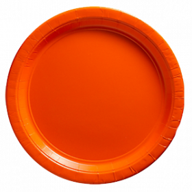 Peel Orange Paper Dinner Plates 20ct
