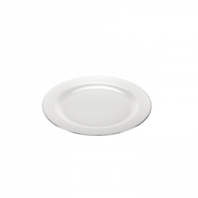 "Magnificence - 7.5"" Pearl Plate - Silver Edge - 10 Count"