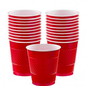 12oz Apple Red Plastic Cups 20ct