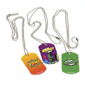 Superhero Dog Tags