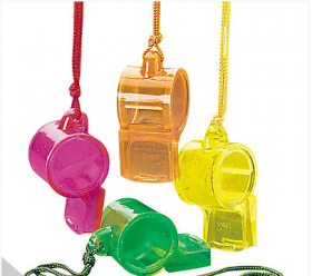 Transparent Whistles 1doz