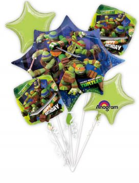 Teenage Mutant Ninja Turtles Balloon Bouquet  5pc