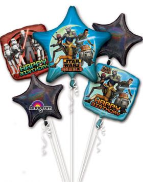 Star Wars Rebels Balloon Bouquet 5pc