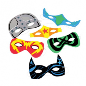 Foam Superhero Masks (1doz)