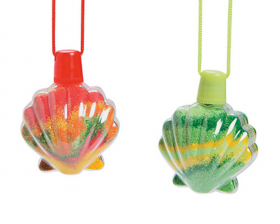 Sea Shell Sand Art Bottle Necklaces 1dz
