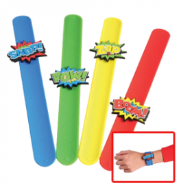 Superhero Slap Bracelets (1doz)