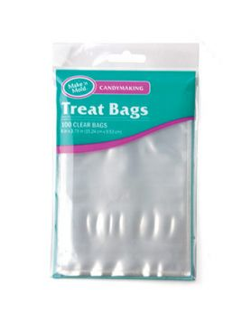 Small Lollipop Favor Candy Bags - Clear