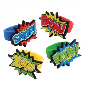 Superhero Rubber Rings
