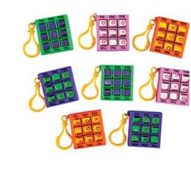 Plastic Tic-Tac-Toe Games with Clip 1 doz