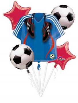 Soccer Balloon Bouquet 5ct.