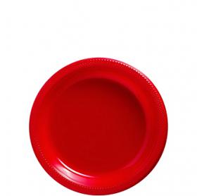 Apple Red Plastic Dessert  Plates 20ct