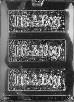 It's A Boy Chocolate Bar Mold