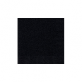 Jet Black Beverage Napkins 50Ct
