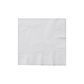 Frosty White Beverage Napkins 50Ct