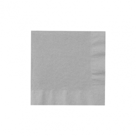 Silver Beverage Napkins 50Ct