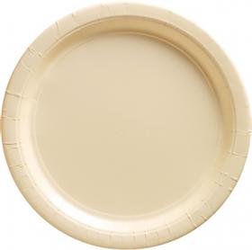 Vanilla Crème Paper Dinner Plates 20ct