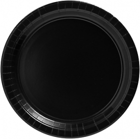 Jet Black Paper Dinner Plates 20ct