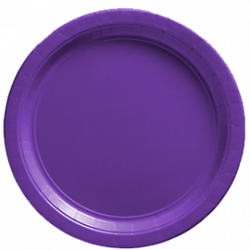 New Purple Paper Dinner Plates 20ct