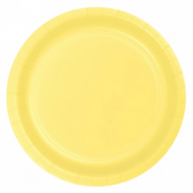 Light Yellow Paper Dinner Plates 20ct