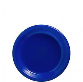 Bright Royal Blue Plastic Dessert  Plates 20ct
