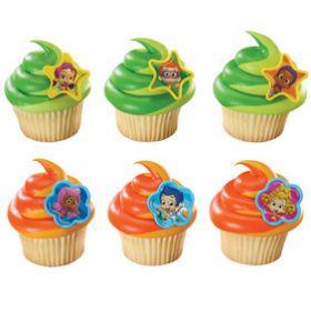 Bubble Guppies Cupcake Rings  6pcs