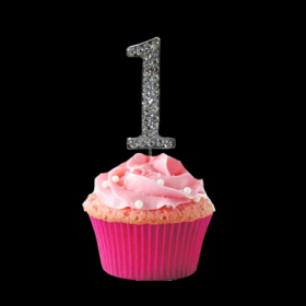 #1Cupcake Monogram Toppers