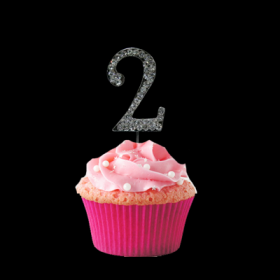 #2 Cupcake Monogram Toppers