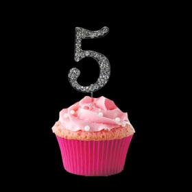 #5 Cupcake Monogram Toppers