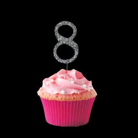 #8 Cupcake Monogram Toppers
