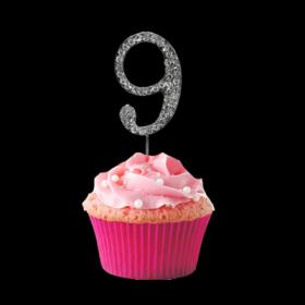 #9 Cupcake Monogram Toppers