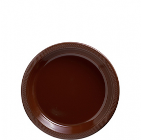 Chocolate Brown Plastic Dessert  Plates 20ct