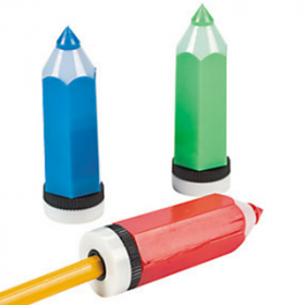 Crayon-Shaped Pencil Sharpeners (1dz)