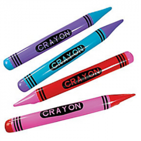 Inflatable Crayons 1 doz
