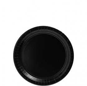Jet Black Paper Dessert Plates 20ct