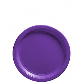 New Purple Paper Dessert Plates 20ct