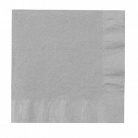 Silver Lunch  Napkins 50Ct
