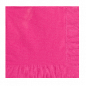 Bright Pink Lunch Napkins 50Ct