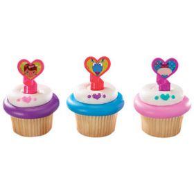 Doc McStuffins Doc & Friends Cupcake Rings  6pcs