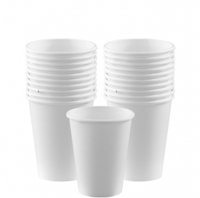 Frosty White Paper Cups 20ct