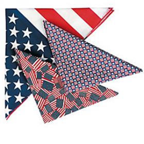 Polyester Patriotic Bandana Assortment (1doz)