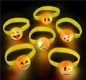 "7"" LIGHT-UP EMOTICON JELLY BRACELET"