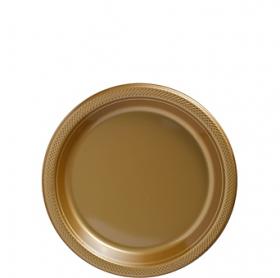 Gold Sparkle Plastic Dessert  Plates 20ct