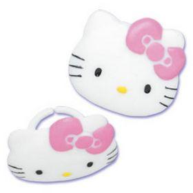 Hello Kitty Cupcake Rings 6pcs