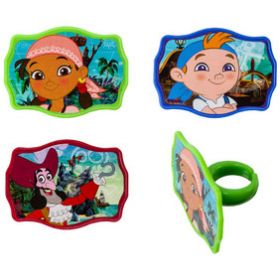 Jake and the Never Land Pirates Cupcake Rings 6pcs