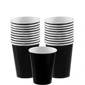 Jet Black Paper Cups 20ct