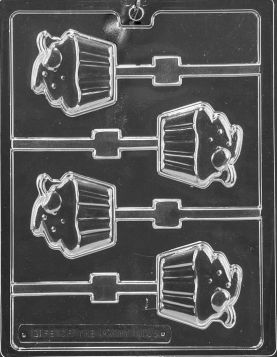 Cupcake with Cherry Chocolate Candy Mold